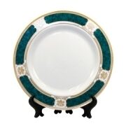 67550_7.5in_Decorated_Rim_Plates_greenrim